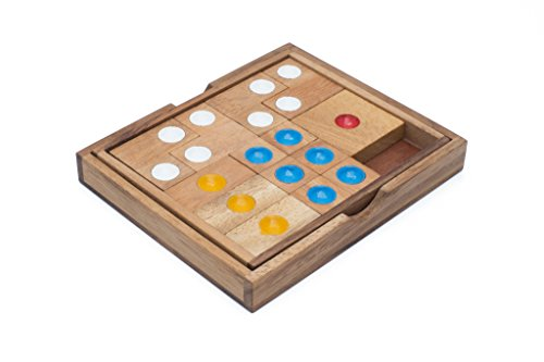 Siam Mandalay Wooden Sliding Klotski Style Puzzle - Traffic Jam This 3D Wooden Brain Teaser Puzzle is Tailored to Adults and Children.