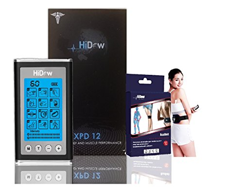 Hi-Dow XPD-12 Bundle with ACU Back Belt | TENS Unit EMS PMS FDA Cleared | Dual Independent Channels | Electronic Pulse Massager & Electrode Muscle Stimulator Physical Therapy Massager For Back Pain by HiDow