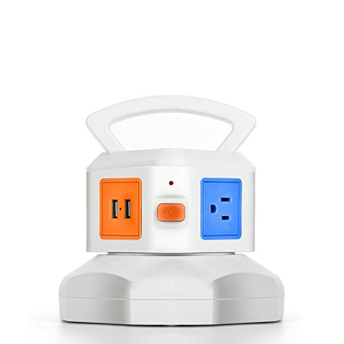 TNP Power Strip with USB Surge Protector - Charger Statio...