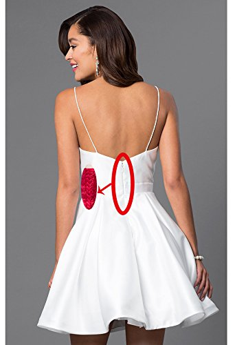 Beauty Juniors Neck Black Bridal Dresses Formal Homecoming Short Womens Evening V for BUqx6wRB