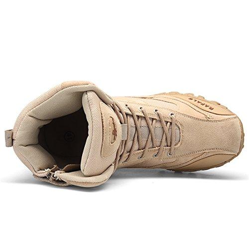Hommes Militaire Haute Militaire Bottes À Lacets Durable Armée De Combat Chaussures Respirant Tactique Désert Randonnée… 4