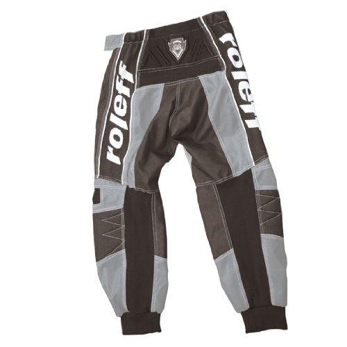 Roleff Racewear Pantal/ón Motocross XXL Negro//Rojo
