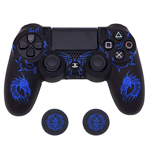 - PS4 Controller Skin , BRHE DualShock 4 Grip Anti-slip Silicone Cover Protector Case for Sony Playstation 4/PS4 Slim/PS4 Pro Wireless/Wired Gamepad Controller with 2 Thumb Grips (Blue)