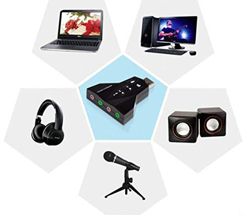 Gadgets Appliances External USB Sound Card - Virtual 7.1 Channel- USB to 3D Stereo Sound Adapter - Set of 1