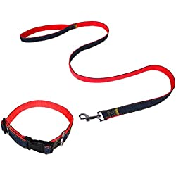 Dog Leash Collar Non-slip Handle Classic Safety System Puppies Collar Dog Collar Cat Collar for House Pet