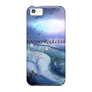 [pqItUAd8478EXucR]premium Phone Case For Iphone 5c/ River Blue Tpu Case Cover