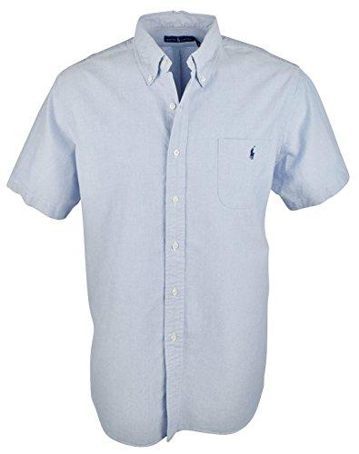 Polo Ralph Lauren Mens Short Sleeve Button Front Oxford Shirt