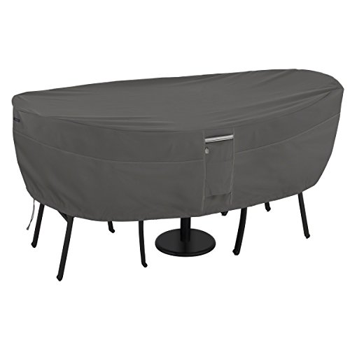 Classic Accessories Ravenna Bistro Patio Table & Chair Set Cover - Premium Outdoor Furniture Cover with Durable and Water Resistant Fabric (55-456-025101-EC) - Patio Furniture Wheels