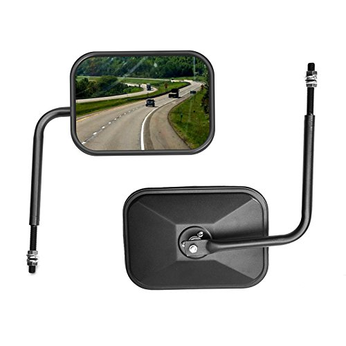 ZMYE Rectangular side view mirror replacement suits all jeep wrangler TJ,JK-JKU CJ JL-1 pair
