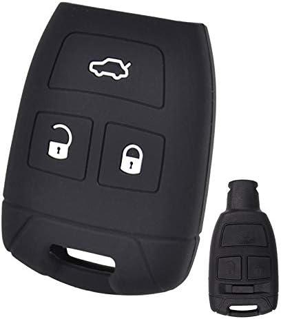 Xukey 3 Tasten Silikon Schlüsselhülle Für Fiat Croma Bravo Stilo Keyless Remote Key Cover Shell Skin Holder Protector Auto