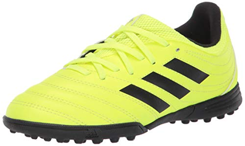 adidas Unisex Copa 19.3 Turf Soccer Shoe, Black/Solar Yellow, 1 M US Little Kid (The Best Soccer Shoes Ever)