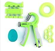 ETSK 5 Pack Hand Grip Strengthener Workout Kit Forearm Grip Adjustable Resistance Hand Gripper, Finger Exercis