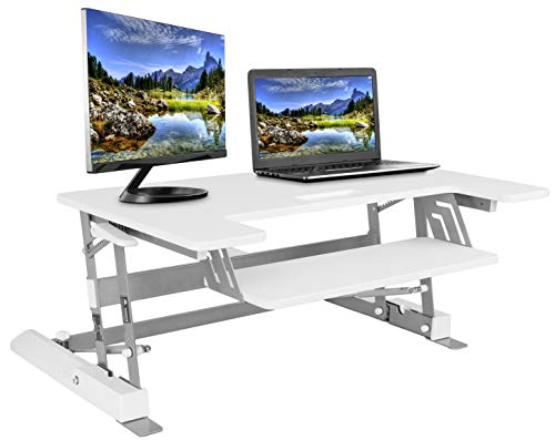 VIVO Height Adjustable Standing Desk Monitor Riser Gas Spring | 36