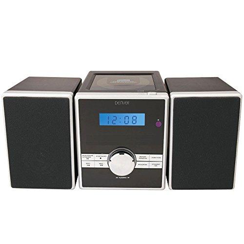 Denver 12110370 Micro Soundsystem mit PLL-FM Radio, CD-Player und AUX-In