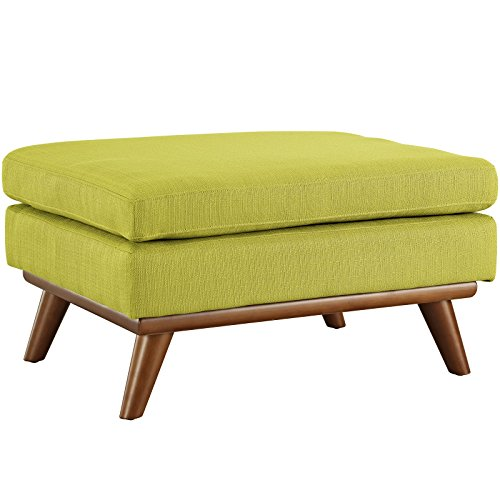 Cheap Modway Engage Mid-Century Modern Upholstered Fabric Ottoman In Wheatgrass