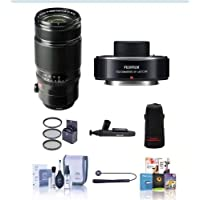 Fujifilm XF 50-140mm (76-213mm) F2.8 R LM OIS Weather Resistant Lens - Bundle w/ Fujifilm XF1.4XTC WR Teleconverter, 72mm Filter Kit, Soft Lens Case, Cleaning Kit, Capleash II, Lenspen Lens Cleaner