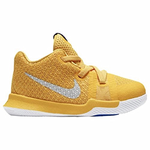 NIKE Kyrie 3 Mac and Cheese Toddler Boys Shoe University Gold/Chrome/White/Game Royal (9C)