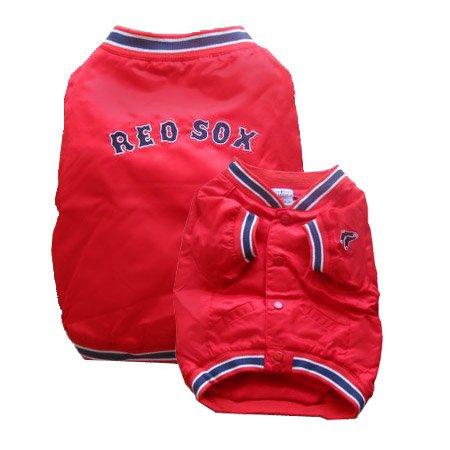 e5f5e8bd1 Amazon.com : Sporty K9 Boston Red Sox Dugout Dog Jacket, Large : Pet Coats  : Pet Supplies