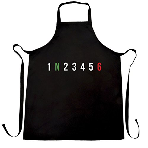 1 N 2 3 4 5 6 Motorbike Gears Joke Cool Motorcyclist Bike Ride Speed Fast 125cc 500cc 1000cc Apron Cool Funny Gift Present For Kitchen BBQ Chef Cook