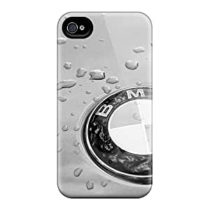 Scratch Protection Hard Phone Covers For Iphone 4/4s (UON689atnx) Support Personal Customs Fashion Grey Bmw Logo Skin
