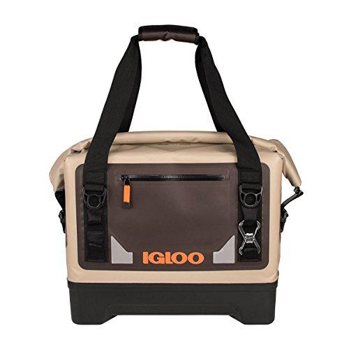 Igloo Sportsman Waterproof Duffel Soft Cooler, Tan/Black/Orange, 27 Quart (25 - Sportsmans Duffel