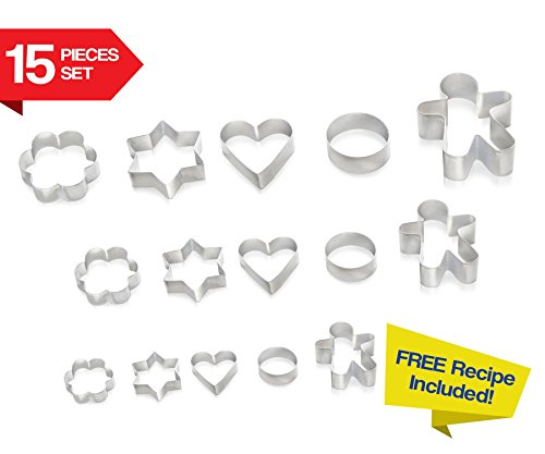 Cookie Cutters 15 PIECE SET by Immys Biscuit