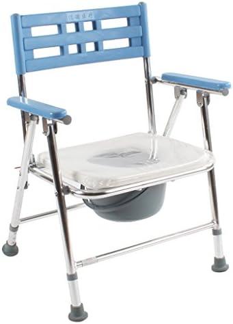 Cqq Badestuhl Folding Kommode Stuhl mit gepolsterten Toilettensitz Badezimmer Anti-Rutsch höhenverstellbar Bad...