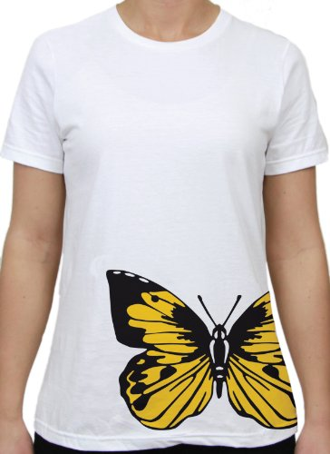 Winchester Barn Eleven Yellow Butterfly Missy T-Shirt, Me...