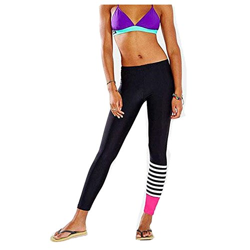 Leegor Women Yoga Running Sport Pencil Pants Dance Leggings Stretch Trousers (M)