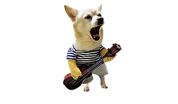 Zolimx Ropa para Perro, Ropa para Mascotas Guitarrista ...