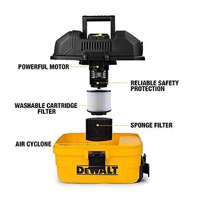 DeWALT Portable 4 gallon Wet/Dry Vaccum, Yellow