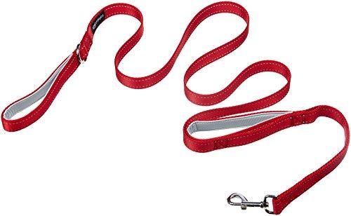AmazonBasics Two-Handled Padded Dog Leash - 6-Foot, Red