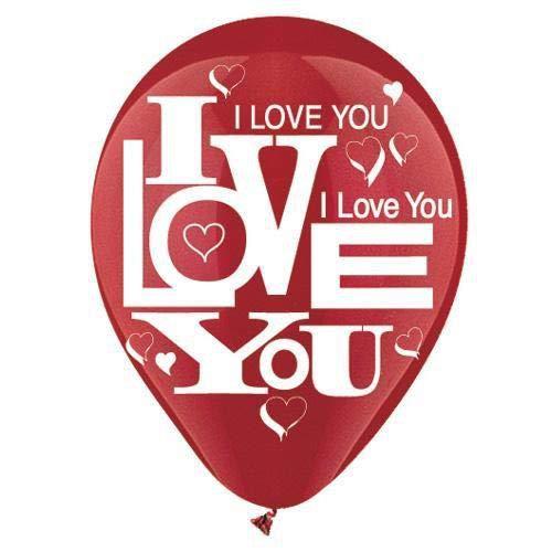 CTIラテックスバルーン912607 I Love You ( 6 pk、12インチ、マルチカラー   B075VSYMPV