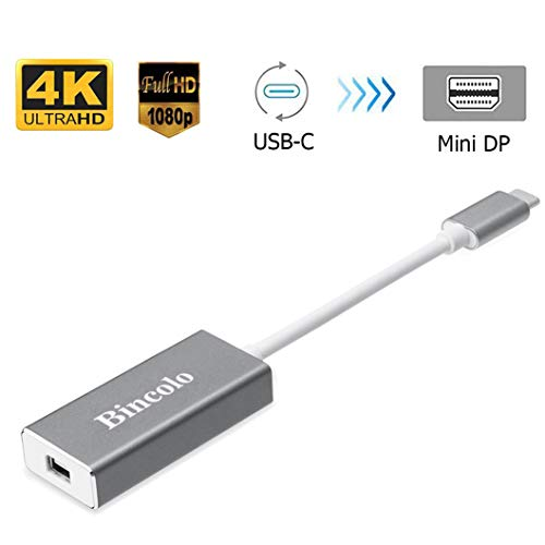 Bincolo USB C to Mini DisplayPort Adapter, USB-C Type-C(Thunderbolt 3) to Mini Display Port 4K 60HZ Adapter for MacBook Pro, New MacBook, LED Cinema Display]()