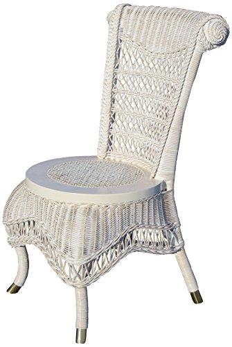 Classic Wicker Side Chair - Spice Islands Classic Side Chair, Null, White
