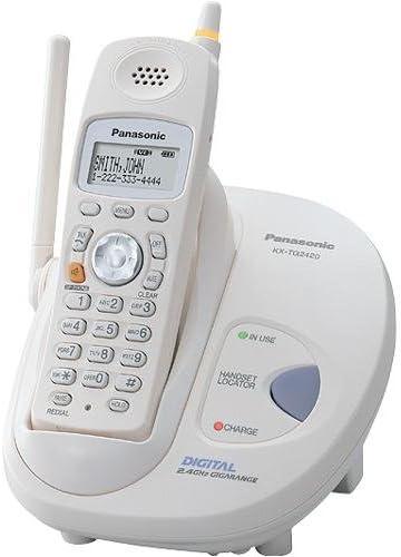 Panasonic KX-TG2420 W 2,4 gHz FHSS GigaRange Digital teléfono inalámbrico: Amazon.es: Electrónica