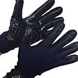 Pro-Net Advantage Pet Grooming/Deshedding Gloves or Mitts for Dogs, Cats, Rabbits, or Horses. One pair-use wet or dry to remove unwanted fur and reduce shedding.
