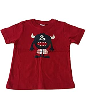 Little Boy Red 3-Eyed Monster Graphic T-Shirt 18-24M