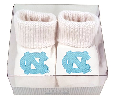Future Tailgater North Carolina UNC Tar Heels Boxed Baby Booties