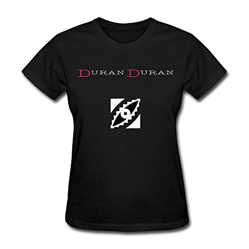 RZF Women's Duran Duran Logo 1 T-Shirt-S Black ()