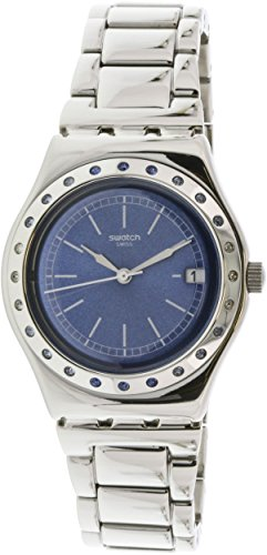 Swatch Bluround Blue Dial Ladies Steel Watch YLS457G