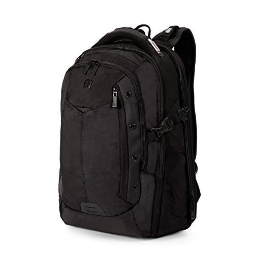 (SWISSGEAR Large, Padded ScanSmart 15-inch Laptop Backpack | TSA-Friendly Carry-on | Travel, Work, School | Men's and Women's - Black)