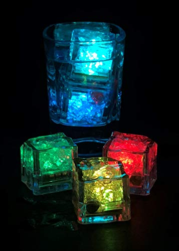 Combo of 12 Cubes Flashing with Rainbow Colors - Blinking - Light Cubes for Drinks