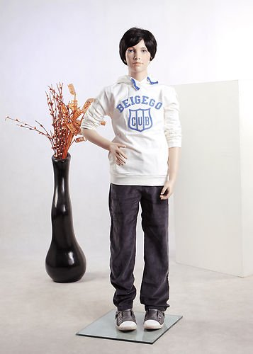 Boy Mannequin - Beautiful Child Boy Male Full Body Fiberglass Realistic Mannequin Flesh Tone (BC01)