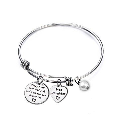 MYOSPARK Today I Tell Your Dad\Mom I Do I Promise You Forever Too Bracelet Stepdaughter Bracelet Blended Wedding Gift Her (Dad Bracelet 1)