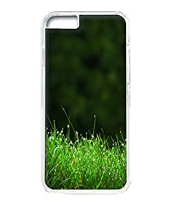 VUTTOO Iphone 6 Case, Grass Dew Closeup Hardshell Case for Apple iPhone 6 4.7 Inch PC Transparent