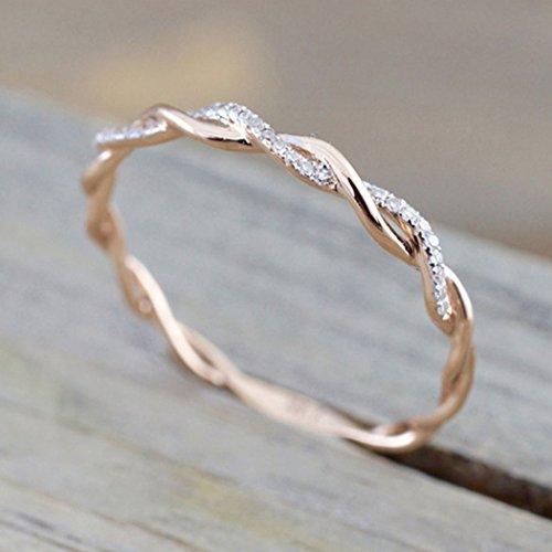 c54e2c627 Barogirl Twist Ring Engagement Ring for Women Women's Rings for Lovers  YR905(9)
