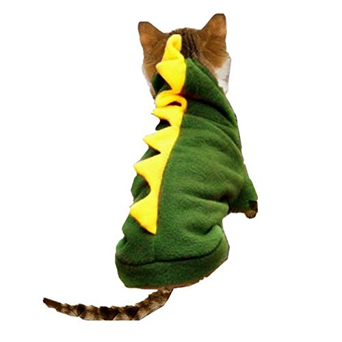 Cat Clothes Dog Costume Suit Funny Dragon Clothing for Cat Christmas Costume Cat Animals Clothes Hoodie Coat Disfraz Perro 15S1 ()