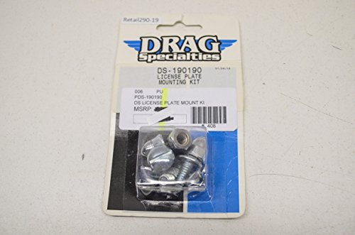 (Drag Specialties DS-190190 License Plate Mounting Kit QTY 1)