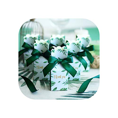 TOKYO HOT Green Paper Candy Boxes Gift Bag Wedding Gift Box Baby Shower Favors Birthday Party Christmas Supplies Wedding Decoration,50 PCS